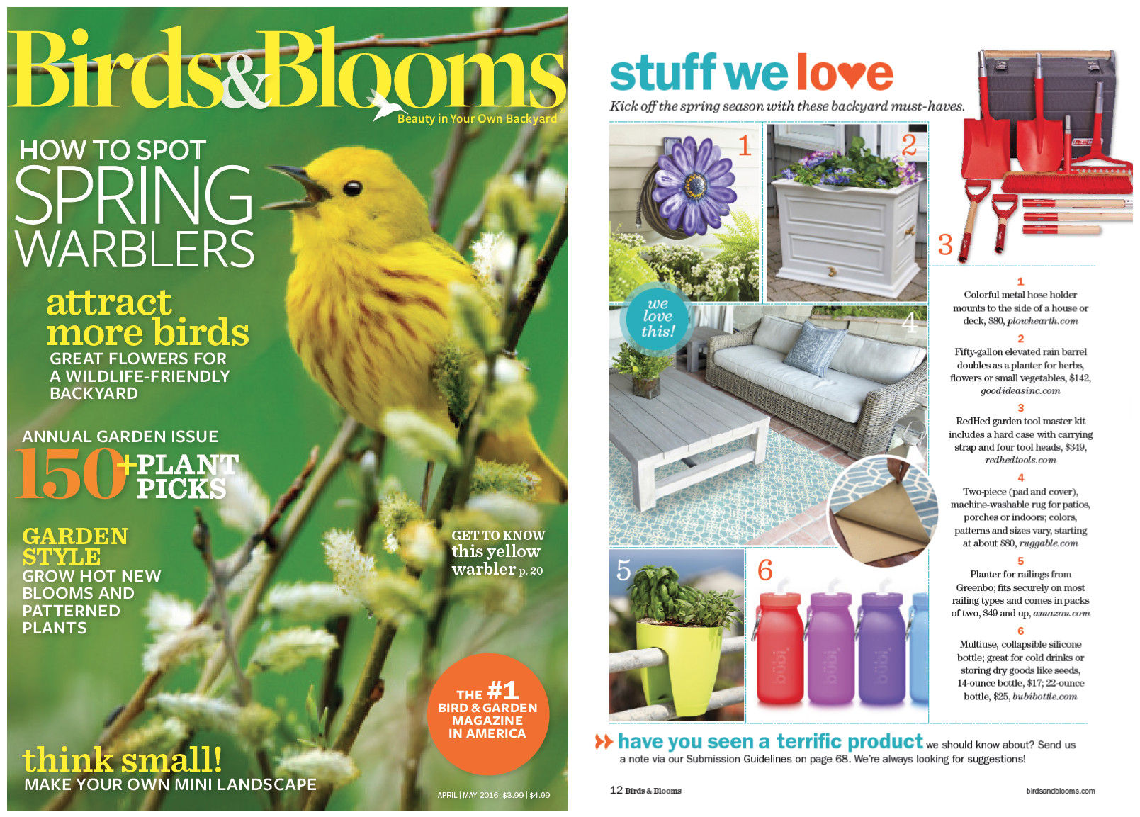 ruggable featured in birds u0026 blooms magazine chicexecs